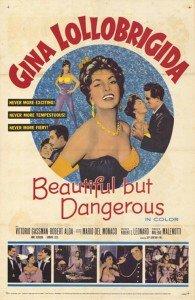 Locandina - Beautiful but dangerous, 1955 - YURY