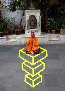 tape geometric art