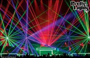 Pretty Lights laser show