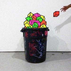 trash tape art