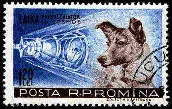 laika-stamp-romania