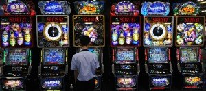 Visitors to Global Gaming Expo check out