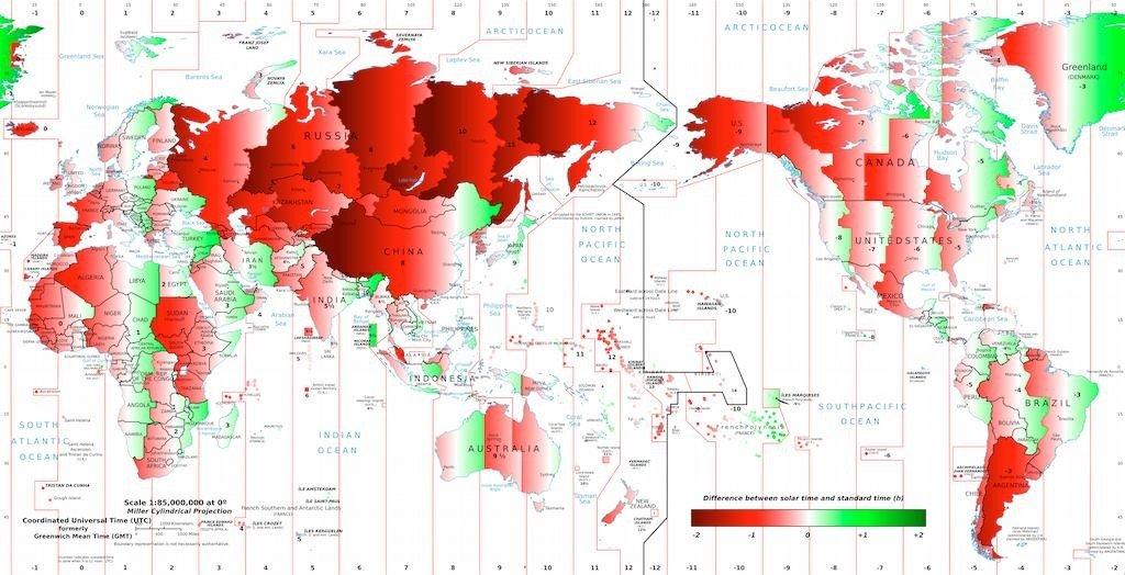 Clicca per espandere la mappa dei fusi orari