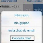 Cancella Chat Whatsapp