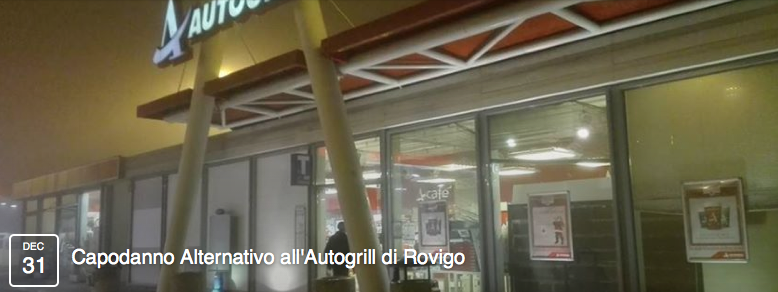 Capodanno Alternativo all'Autogrill di Rovigo
