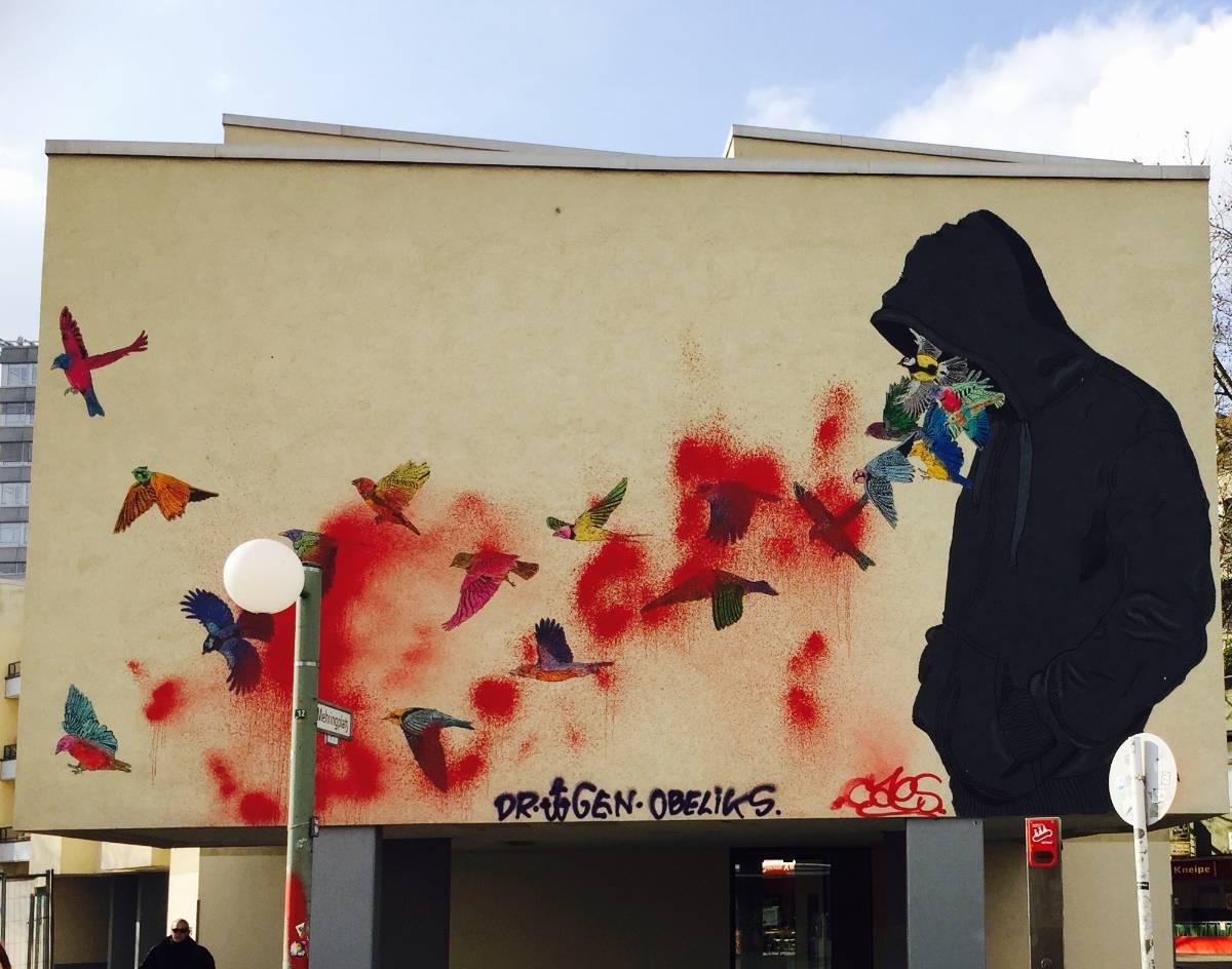 Birds – Don John - street art berlin
